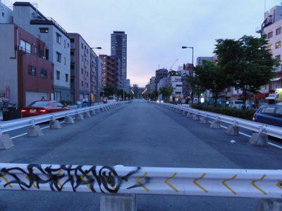 本庄西天満線(神山交差点から)