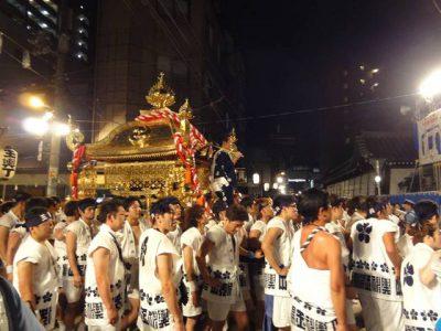 天神祭 宮入りの最後の玉神輿