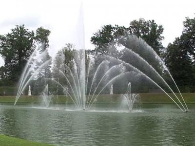 ベルサイユの庭園の噴水