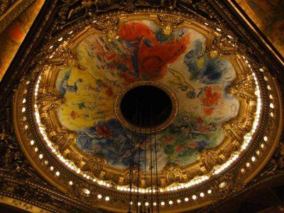 オペラ座内部 シャガールの天井画
