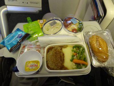 JL406便の夕食