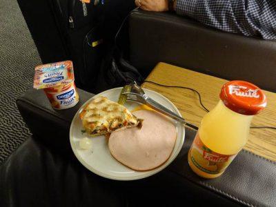 エールフランスラウンジの軽食