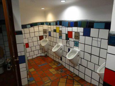 クンストハウスウィーンのトイレ