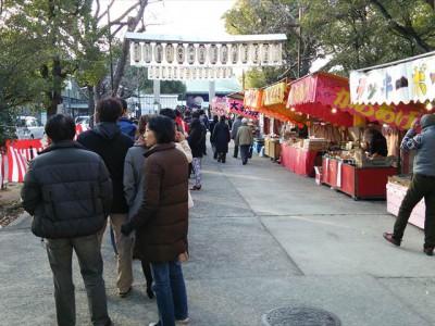 生國魂神社の行列