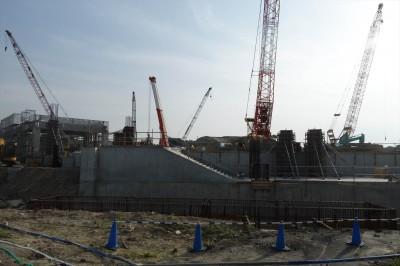 ガンバの新スタジアムの工事