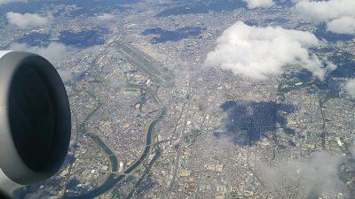 機内から見た大阪空港