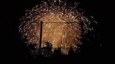 最終見物地からの花火