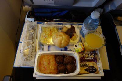 KLM867便の食事