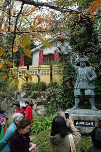 真田幸村像と真田の抜け穴