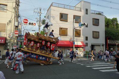 彌榮神社 の地車曳行