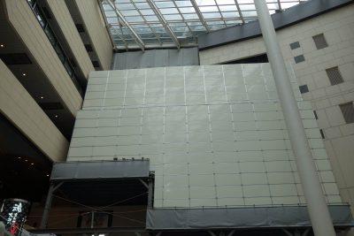 渡り廊下の撤去工事