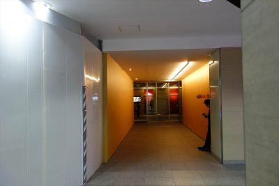 スイスホテルへのエレベータホール